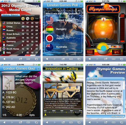 2012 Olympics Mobile Advertising and HTML5 Concepts